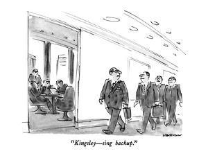"""Kingsley?sing backup."" - New Yorker Cartoon by James Stevenson"