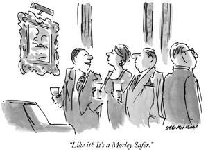 """Like it?  It's a Morley Safer."" - New Yorker Cartoon by James Stevenson"