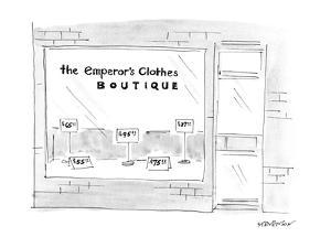 The Emporer's Clothes Boutique - New Yorker Cartoon by James Stevenson