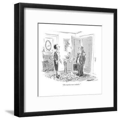 """The market was volatile."" - New Yorker Cartoon"