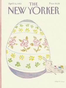 The New Yorker Cover - April 12, 1982 by James Stevenson