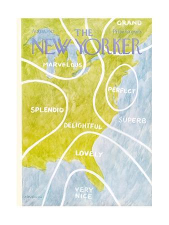 The New Yorker Cover - August 13, 1973 by James Stevenson