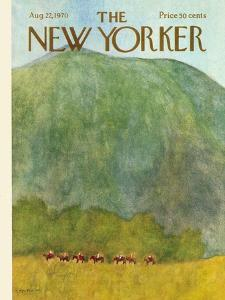 The New Yorker Cover - August 22, 1970 by James Stevenson
