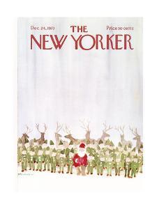 The New Yorker Cover - December 24, 1973 by James Stevenson