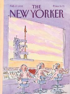 The New Yorker Cover - February 17, 1992 by James Stevenson