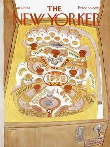 The New Yorker Cover - January 1, 1972 by James Stevenson