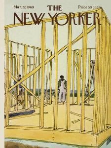 The New Yorker Cover - March 22, 1969 by James Stevenson