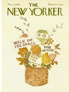 The New Yorker Cover - May 10, 1969 by James Stevenson