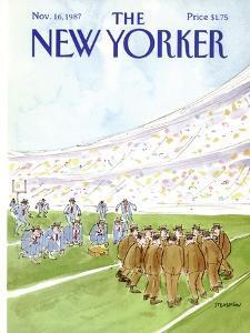 The New Yorker Cover - November 16, 1987 by James Stevenson