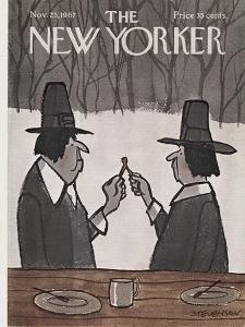 The New Yorker Cover - November 25, 1967 by James Stevenson