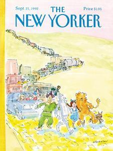 The New Yorker Cover - September 21, 1992 by James Stevenson