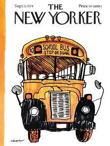 The New Yorker Cover - September 9, 1974 by James Stevenson