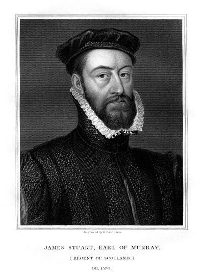 James Stewart, 1st Earl of Moray, Regent of Scotland-H Robinson-Giclee Print