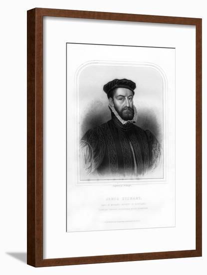 James Stewart, 1st Earl of Moray, Regent of Scotland-TW Knight-Framed Giclee Print