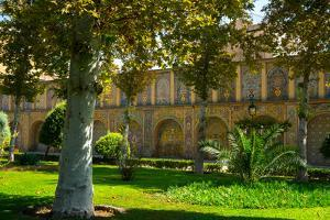 Gardens of Golestan Palace, UNESCO World Heritage Site, Tehran, Iran, Middle East by James Strachan