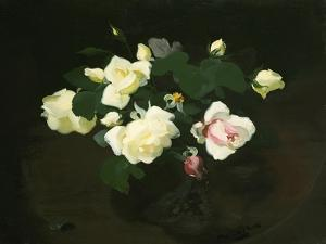 Yellow and Pink Roses by James Stuart Park