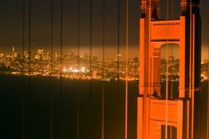 Golden Gate Bridge, Shortly after Sunset, Shot from the Marin Headlands by James Sugar