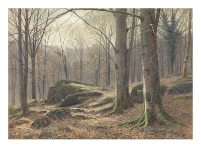 A Winter Morning, Hoar Frost Melting, 1885-1894 (W/C on Paper)