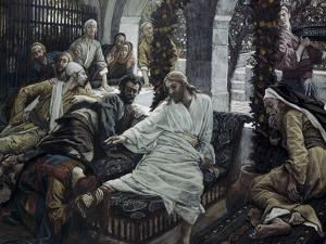 A Woman Anoints the Feet of Jesus by James Tissot