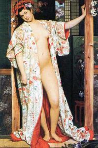 A Woman in Japan Bath by James Tissot