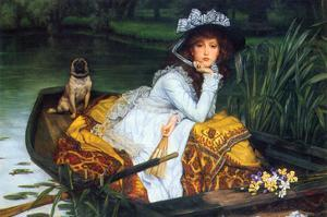 A Young Woman in a Boat by James Tissot