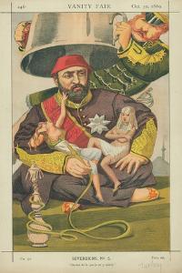 Abdul-Aziz, Sultan of Turkey, Ote-Toi De La Que Je M' Y Mette, 30 October 1869, Vanity Fair Cartoon by James Tissot
