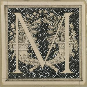 Capital Letter M, Illustration from 'The Life of Our Lord Jesus Christ' by James Tissot