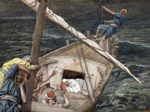 Christ Asleep During the Storm, Illustration for 'The Life of Christ', C.1886-94 by James Tissot