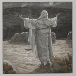 Christ Retreats to the Mountain at Night by James Tissot