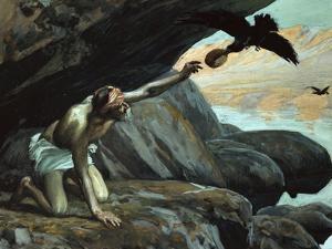 Elijah Fed by the Ravens by James Tissot