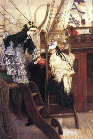 Entry To The Yacht by James Tissot