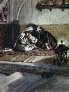 Interview Between Jesus and Nicodemus by James Tissot