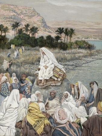 Jesus Preaching by the Seashore, Illustration for 'The Life of Christ', C.1886-96