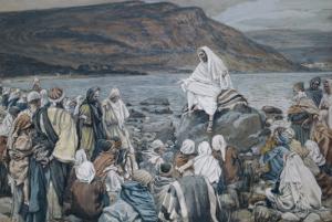 Jesus Teaching by the Seashore by James Tissot
