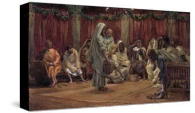 Jesus Washing the Disciples' Feet, Illustration for 'The Life of Christ', C.1886-94
