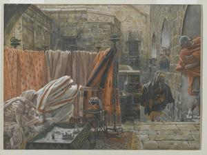 Joseph of Arimathea Seeks Pilate to Beg Permission to Remove the Body of Jesus by James Tissot
