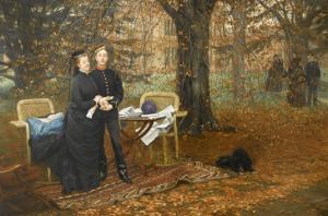 Le Prince impérial et sa mère by James Tissot