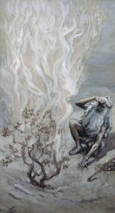 Moses Adores God in the Burning Bush by James Tissot