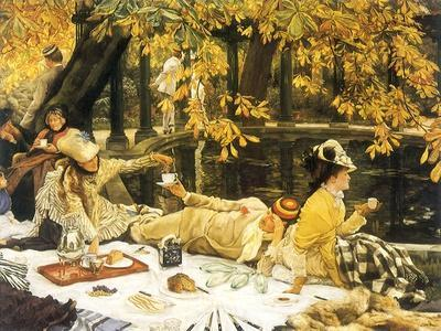 Picnic Lunch by Pool, 1876