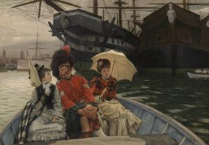 Portsmouth Dockyard by James Tissot