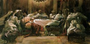 The Last Supper. Judas Dipping His Hand in the Dish by James Tissot