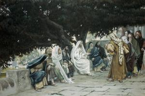 The Pharisees and Sadducees Come to Tempt Jesus by James Tissot
