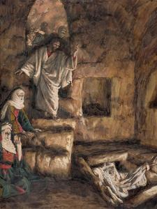The Raising of Lazarus, Illustration for 'The Life of Christ', C.1886-94 by James Tissot