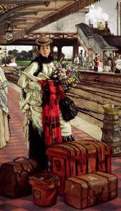 Waiting at the Station, Willesden Junction, circa 1874 by James Tissot