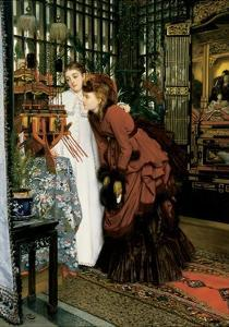 Young Women Looking at Japanese Articles, 1869 by James Tissot