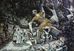 Zacchaeus in the Sycamore Tree by James Tissot