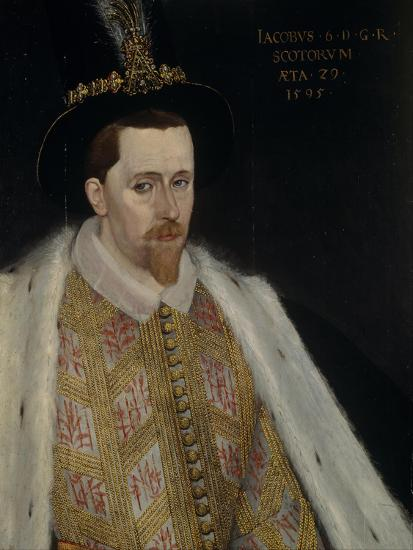 James VI and I (1566-162), King of Scotland, 1595-Adrian Vanson-Giclee Print