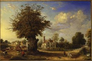 The Yeldham Oak at Great Yeldham, Essex, 1833 by James Ward