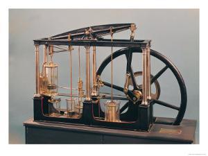 Reconstruction of James Watt's Steam Engine, 1781 (Copper & Glass) by James Watt