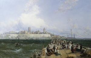 A View of Margate from the Pier by James Webb
